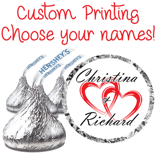 Wedding Stickers Party Favors Hershey Kisses Hearts