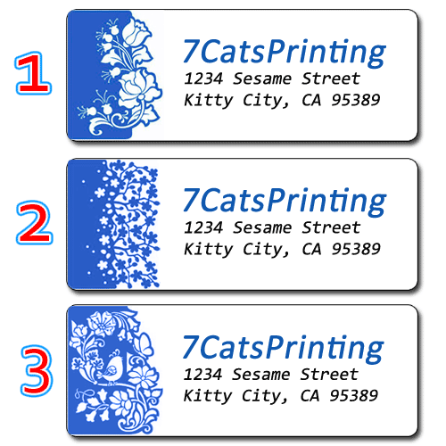 30 Custom Kitten With Ornament Personalized Address Labels