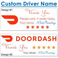 doordash thank you stickers