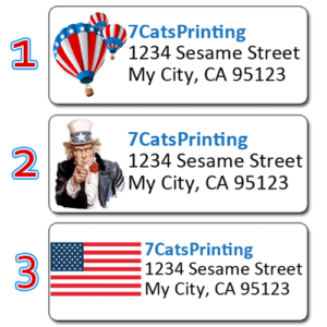 american flag labels