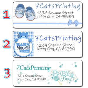 baby shower invitation return address labels