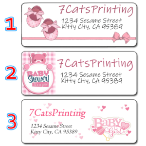girl baby shower invitation return address labels