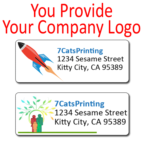 company logo address labels