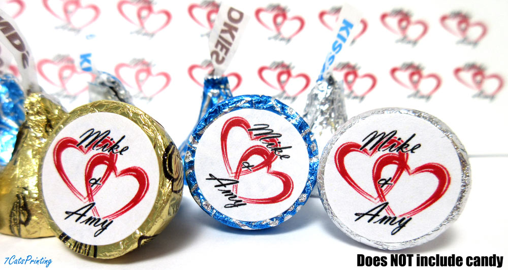 hershey kiss wedding labels