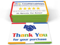 thank you cards for ebay sellers