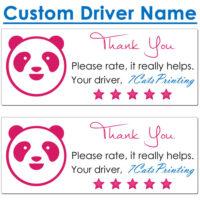 foodpanda driver stickers
