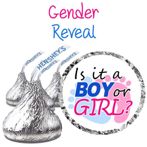 gender reveal hershey kiss labels
