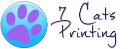 7 cats printing logo