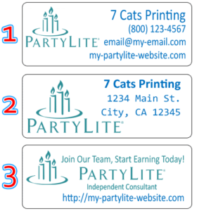 partylite labels