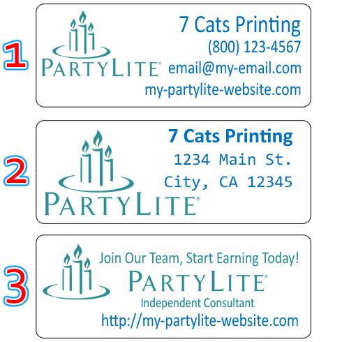 partylite labels