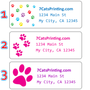 personalized paw print labels