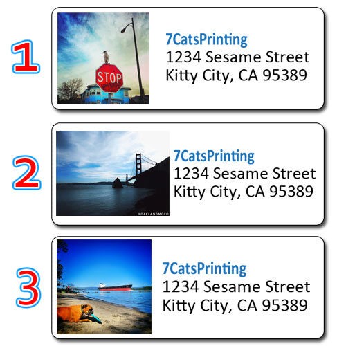 custom photo address labels