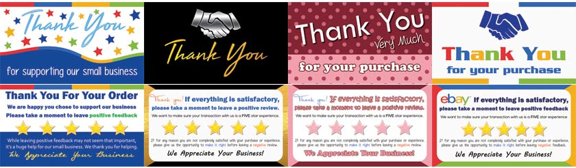 seller thank you cards