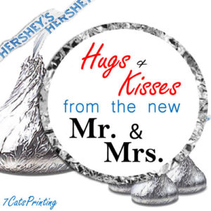 wedding hershey kisses labels