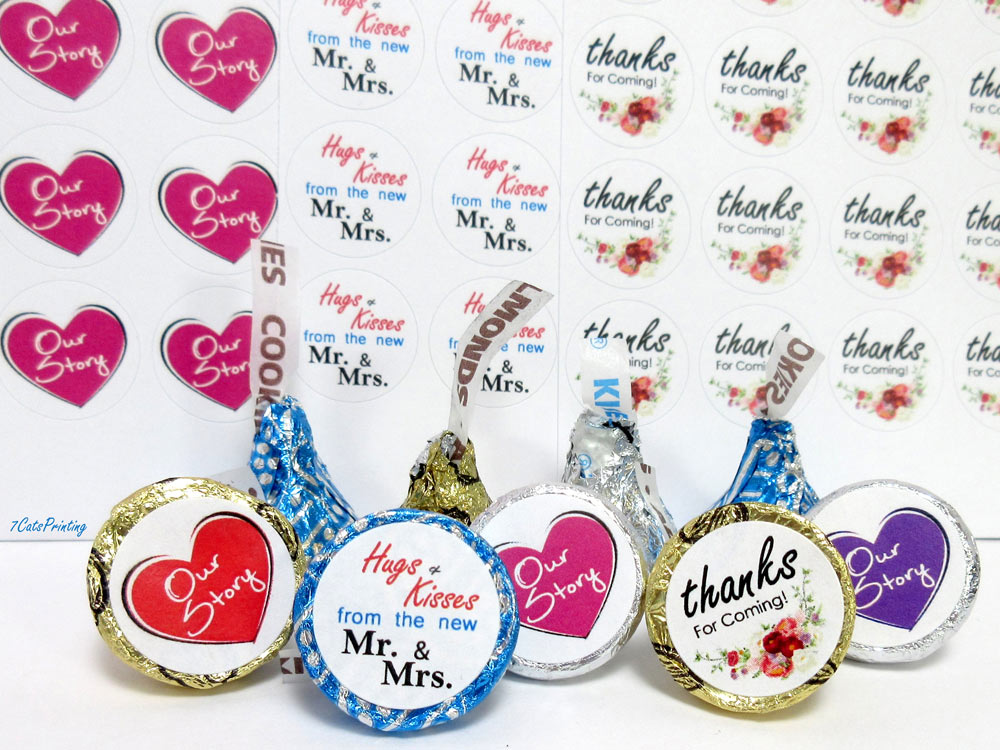 hershey kiss labels for wedding